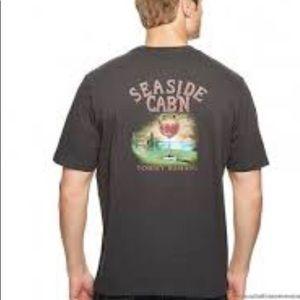 TOMMY BAHAMA Seaside Cab n Tee shirt Grey Large